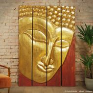 4 Teile Relief Buddha