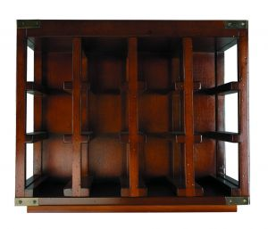Authentic Models Bottle Rack, Unit #3 MF210 #2 Holz Messing Weinregal MF210  Flaschenregal