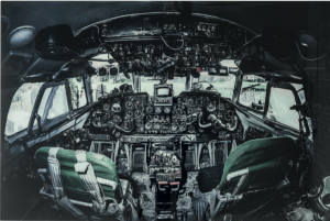 "Glasbild ""Cockpit View"" 100x150cm"