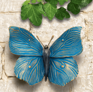 bronze schmetterling blau gold