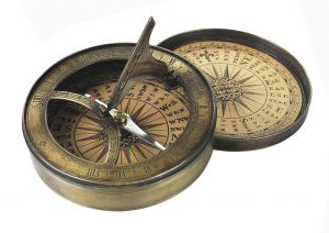 Authentic Models 18th C. Kompass & Sonnenuhr Sundial & Compass Messing