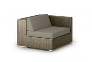 Dedon Lounge Modul links in taupe