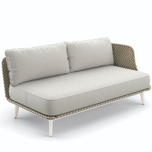 Dedon Mbarq 3 Sitzer Sofa in weiss