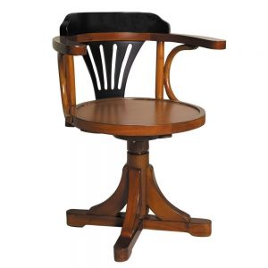 Authentic Models Purser´s Chair Black&Honey Zahlmeister Stuhl Schwarz/Honig MF081