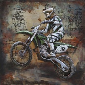 "Metall - Wandbild ""Motocross Bike"""