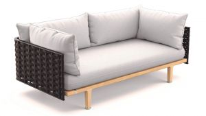Dedon 2er-Sofa in slate