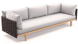 Dedon Sealine 3er-Sofa in slate