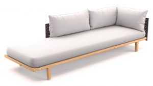 Dedon Sealine Lounge Daybed links in slate
