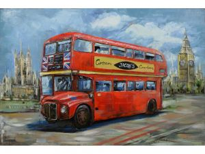 "Metall - Wandbild ""Doppeldeckerbus - London - Routemaster"""